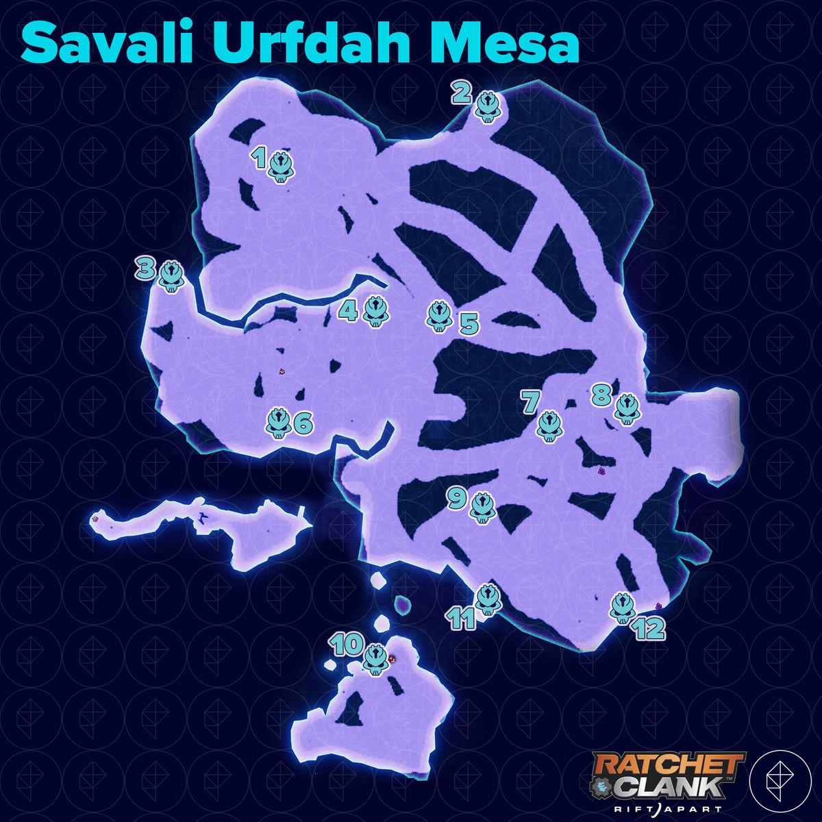 Ratchet & Clank: Rift Apart collectibles guide: Savali Urfdah Mesa