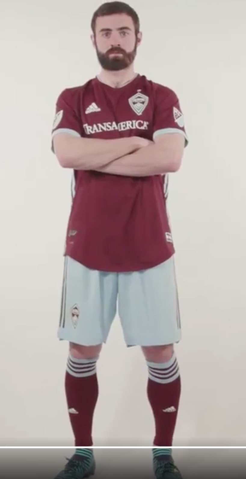 917a48bb1 Jack Price in the Rapids new home kit. https://www.coloradorapids.com/post/ 2018/02/08/2018-colorado-rapids-primary-kit-unveiled