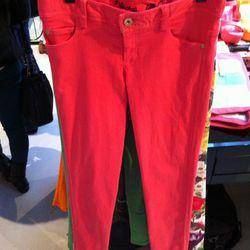 5-pocket skinny jeans in Poppy ($187).