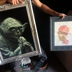 Images of famous dead Houstonians including Anna Nicole Smith and DJ Screw will be on the walls. (Yoda, too.)