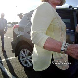 """Karmen Sanone, the self-described """"longtime friend"""" of Gary Ott,  center, talks with the Salt Lake County recorder, right, in body camera footage taken by a Pleasant View police officer in a Harrisville parking lot on Wednesday, June 28, 2017. The footage shows the exchange Ott's family and Sanone had with police the day a judge signed a temporary order granting Ott's family legal guardianship amid concerns about his health."""