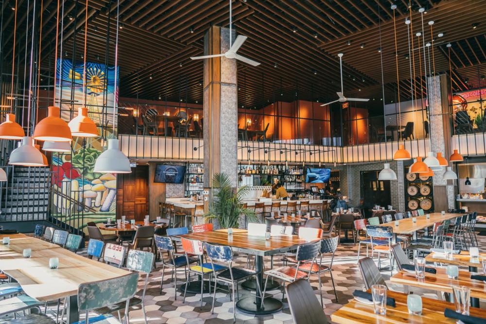 colorful restaurant interior