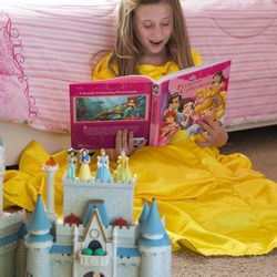 The Disney princess culture may encourage young girls to embrace stereotypes that limit them later, according to research by BYU's Sarah Coyne.   June 3, 2016  Photography by: Mark A. Philbrick/BYU Photo  Copyright BYU Photo 2016 All Rights Reserved photo@byu.edu (801)422-7322  4969
