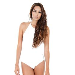 """<b>Love Citizen</b> High Neck and Low Back One Piece, <a href=""""https://www.pescaboutique.com/Love-Citizen-One-Piece-High-Neck-Low-Back.html"""">$169</a> at Pesca Boutique"""