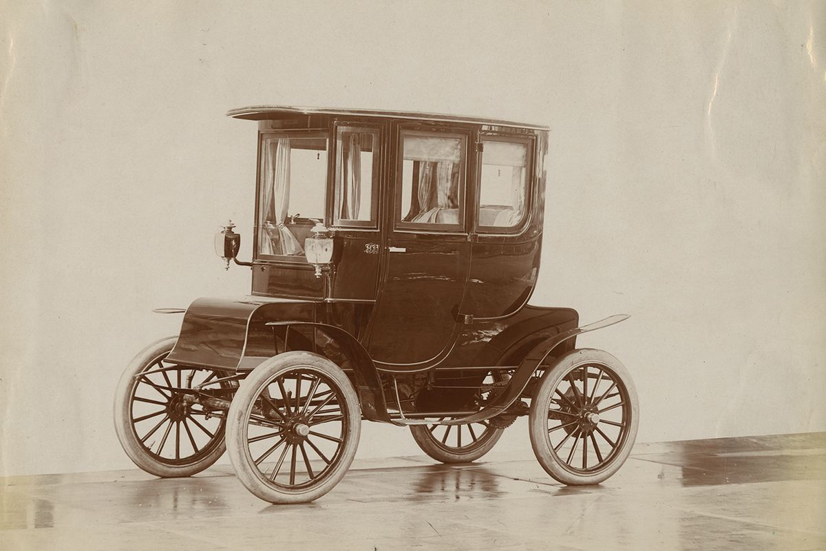 One Of The Many Fritchle Electric Cars Manufactured In Early 20th Century 30003403 History Colorado