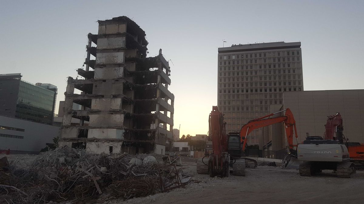 Parker Center demolition equipment