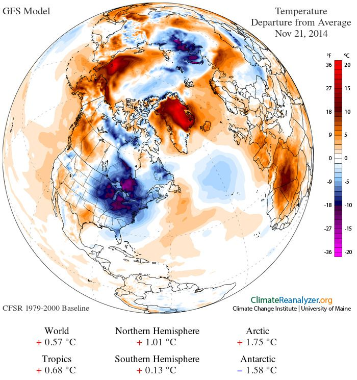 Map Its Really Cold In The Us And Unusually Warm Almost - Pressure-map-of-us