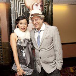 The evening's hostess Tonya Mezrich, with her husband Ben / photo by Russ Mezikofsky