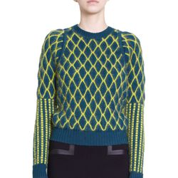 "<b>Kenzo</b> Diamond Knit Crewneck, <a href=""http://www.barneys.com/Kenzo-Diamond-Knit-Crewneck-Sweater/502154982,default,pd.html?cgid=womens-sweaters&index=21"">$685</a>"