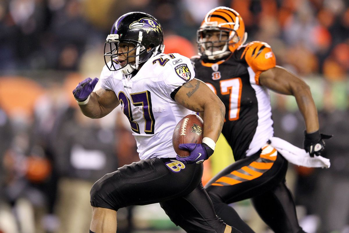 Despite being a free agent this offseason, don't expect to see Ray Rice in anything except a Baltimore Ravens uniform in 2012.
