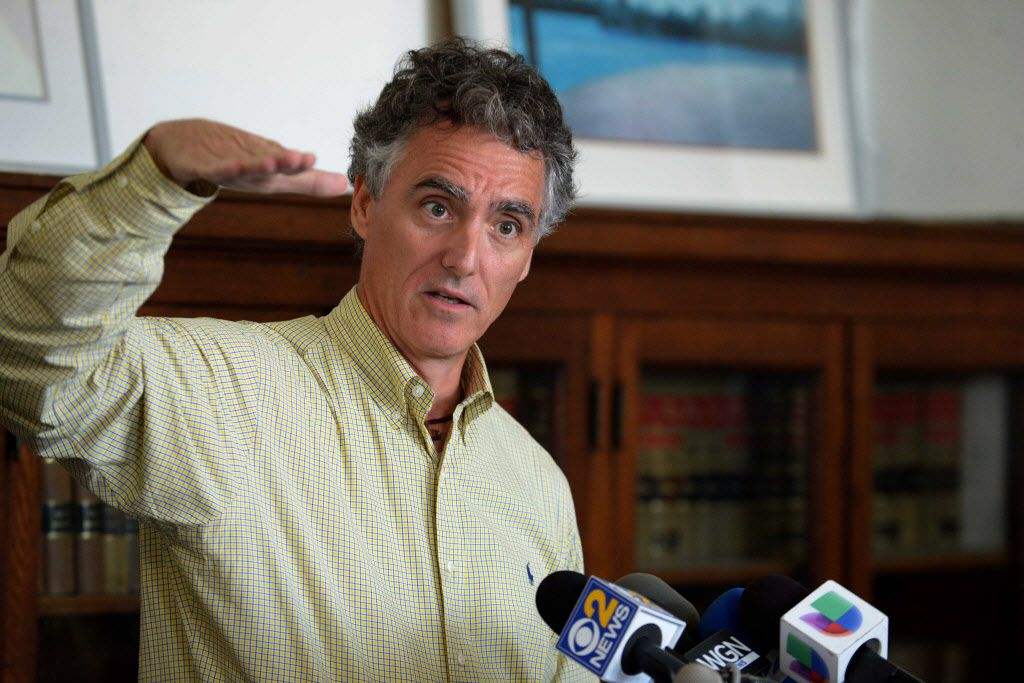 Cook County Sheriff Tom Dart at a news conference in July. File Photo. Brian Jackson/ For the Sun-Times