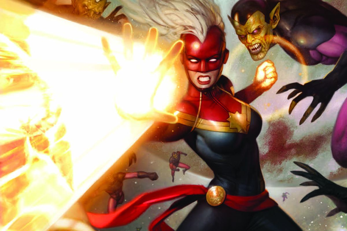 The eBay-exclusive Captain Marvel variant cover