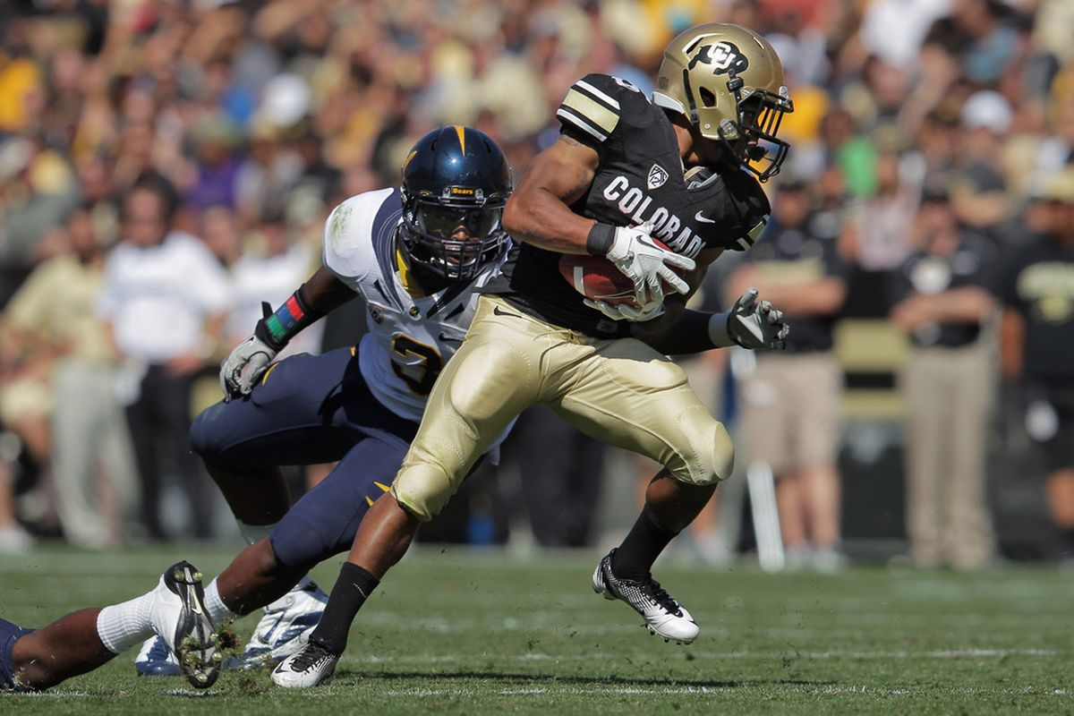 Rodney Stewart is the spark plug of the Colorado offense.  (Photo by Doug Pensinger/Getty Images)