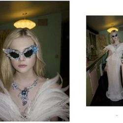Elle Fanning, shot by Bill Owens for A Magazine Curated by Rodarte.