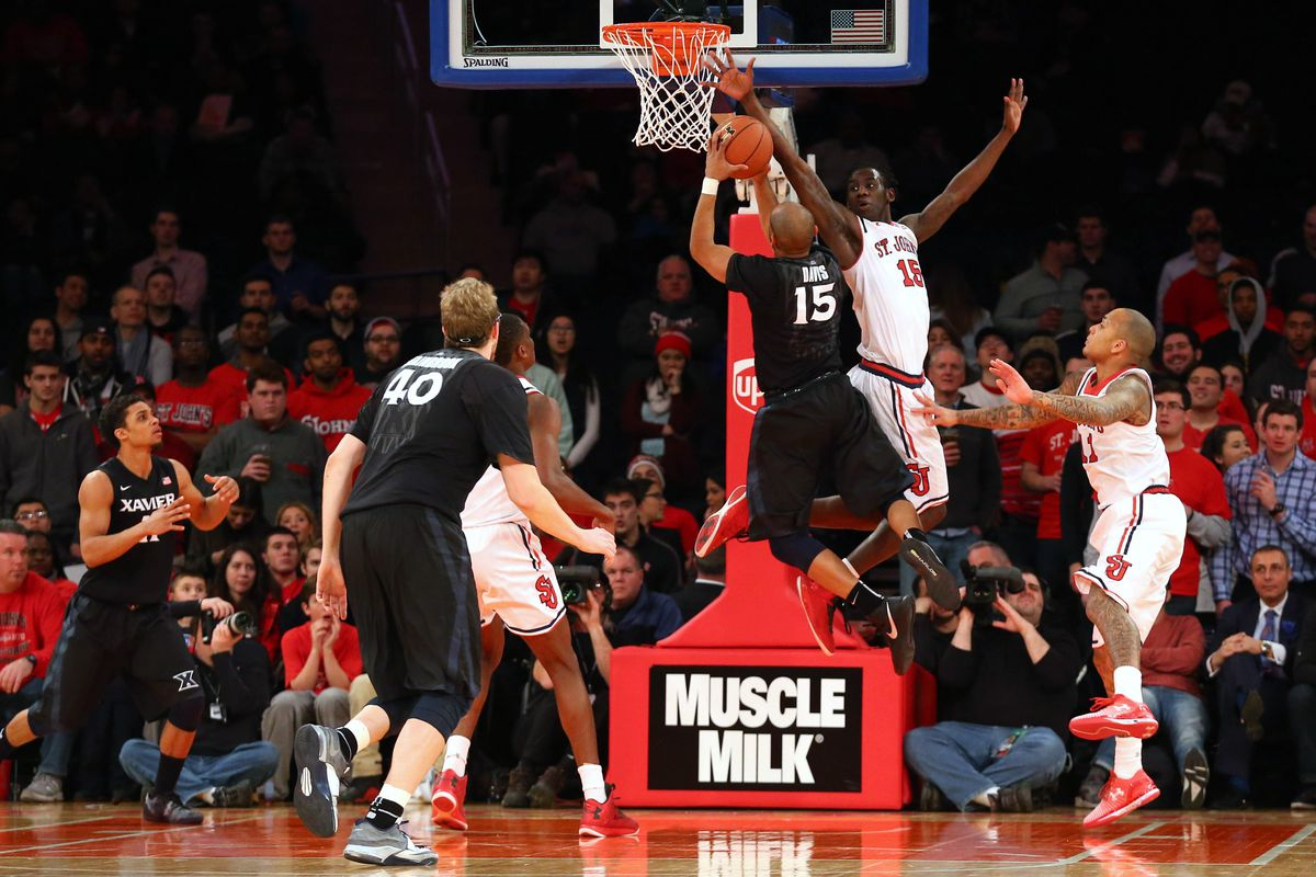 It was tough sledding for Myles against St. John's athletic guards.
