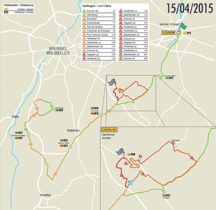 2015 Brabantse Pijl Map