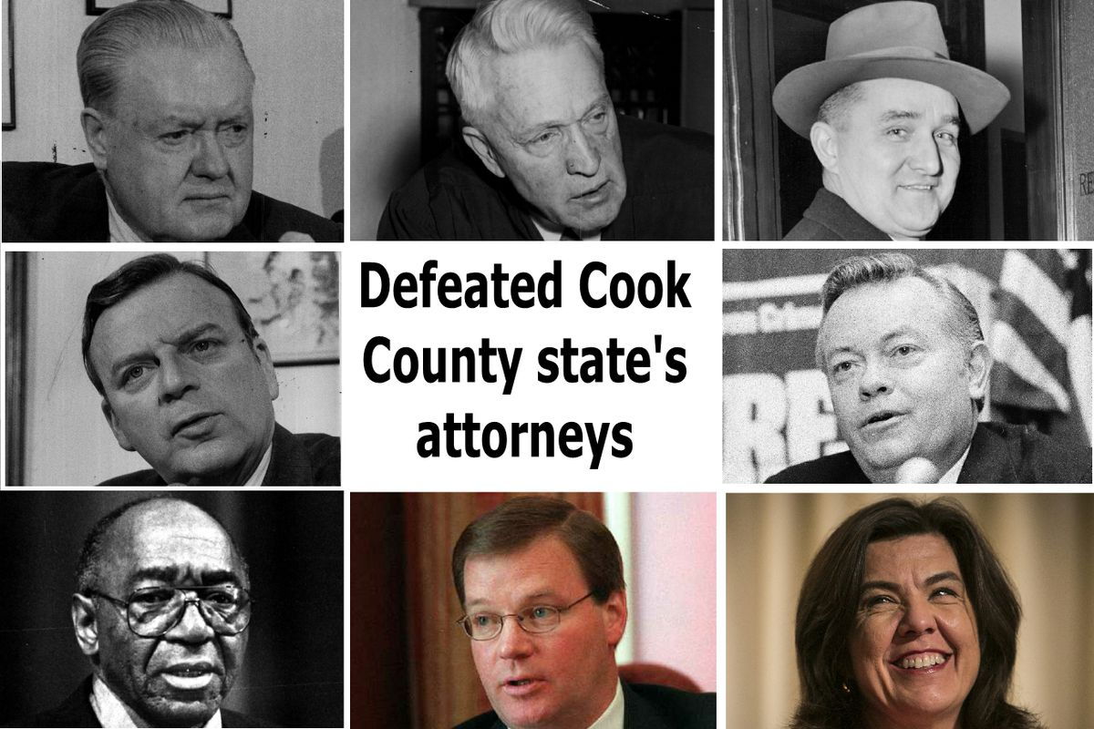 Cook County state's attorneys defeated in the past 70 years. All lost in November during presidential election years unless otherwise noted.