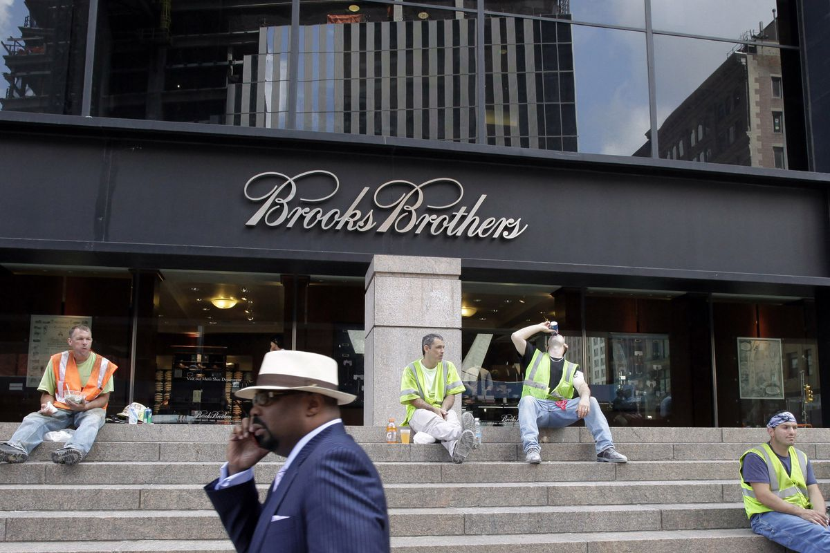 A Brooks Brothers store on Church Street in New York's financial district is photographed in 2011.
