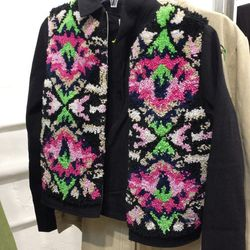 Embroidered Jacket, $120