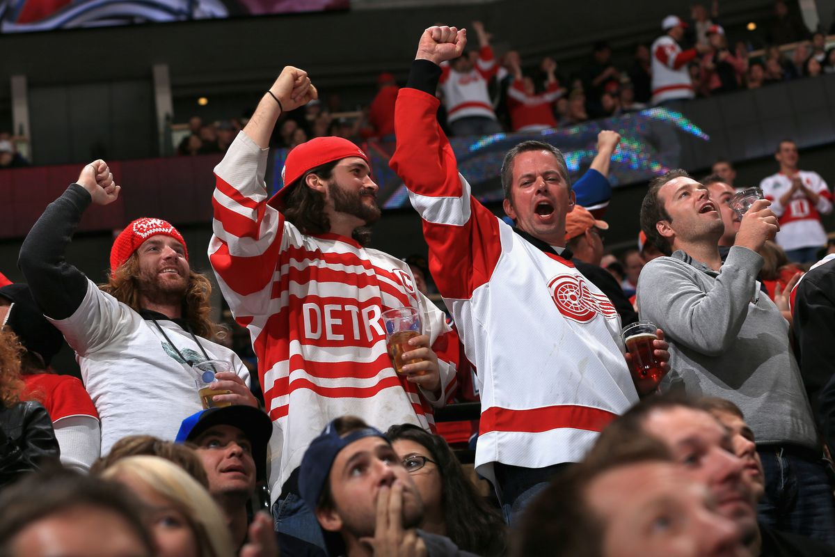A typical night in Denver. Wings fans rocking the Pepsi Center again.