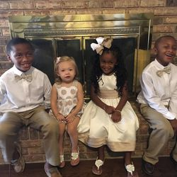 The Oden kids are all dolled up for Thanksgiving 2015: Elijah, 7, Annabelle, nearly 2, Gabbi, 4, and Kentrell, 5.