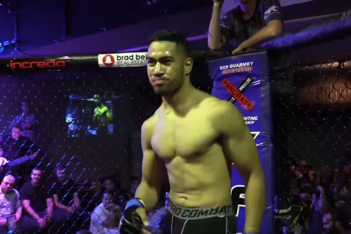 Fau Vake when he won the XFC middleweight championship in 2016.