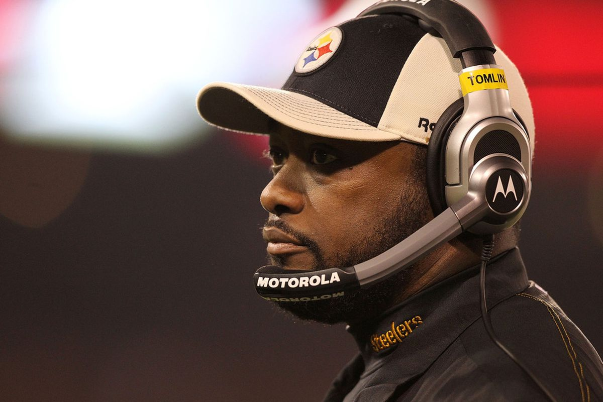 SAN FRANCISCO, CA - DECEMBER 19: Head coach Mike Tomlin of the Pittsburgh Steelers is seen during the game against the San Francisco 49ers at Candlestick Park on December 19, 2011 in San Francisco, California.  (Photo by Karl Walter/Getty Images)