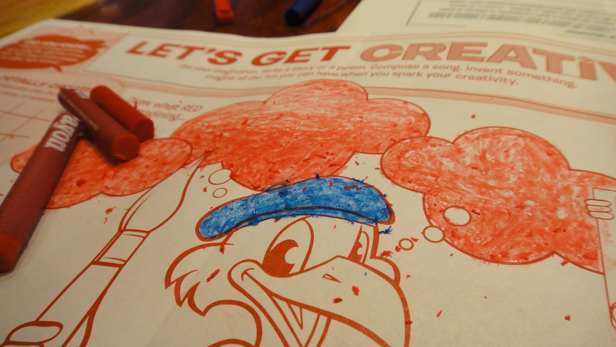 Kids Menu Coloring Stock Illustrations – 311 Kids Menu Coloring ... | 675x1200