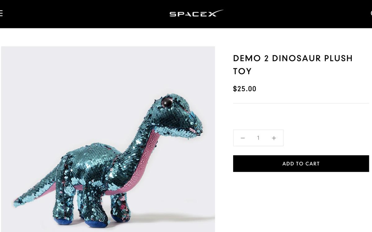 Lanzamiento de SpaceX: este dinosaurio de peluche es el indicador de cero g de Crew Dragon 1