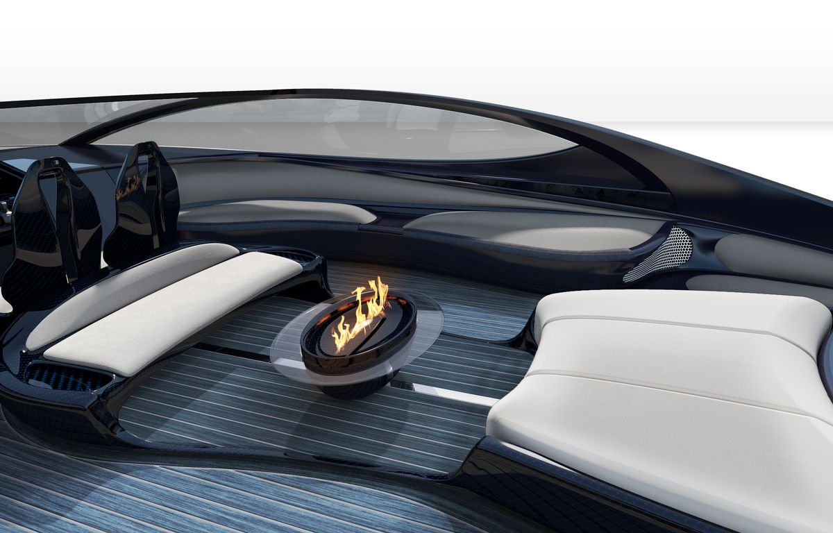 bugatti's $4 million yacht has a jacuzzi and fire pit, because being