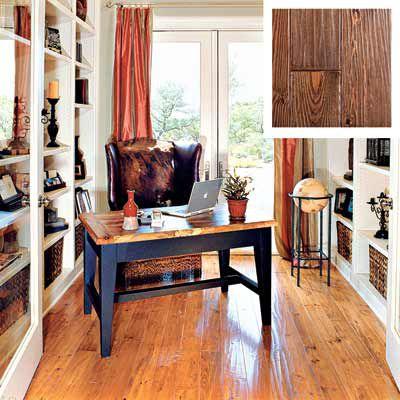 Distressed Heart Pine Wood Floor