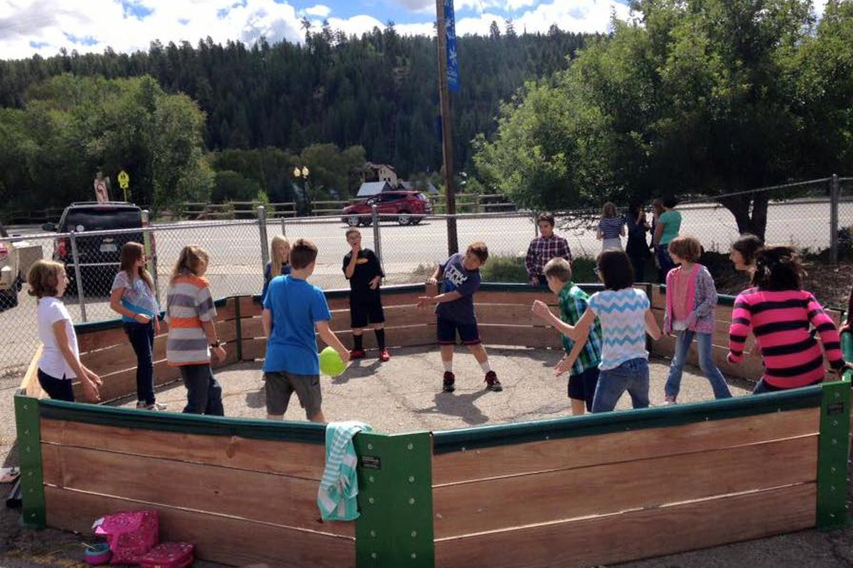 Pagosa Springs Middle School purchased this gaga pit— used to play a fast-paced version of dodgeball—using money from its Healthy School Champion awards.