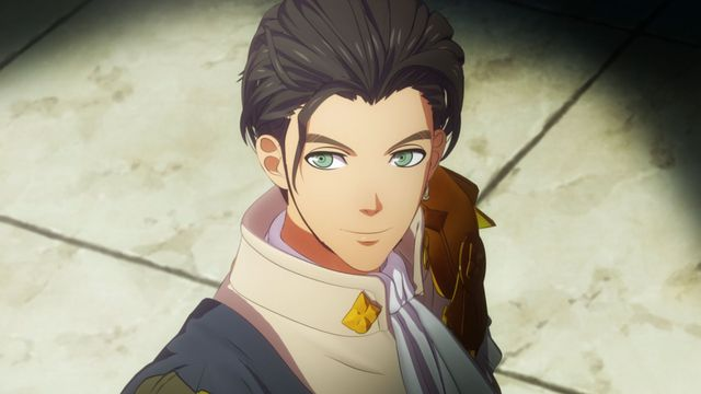 A young man named Claude in Fire Emblem: Three Houses stars wistfully into the distance