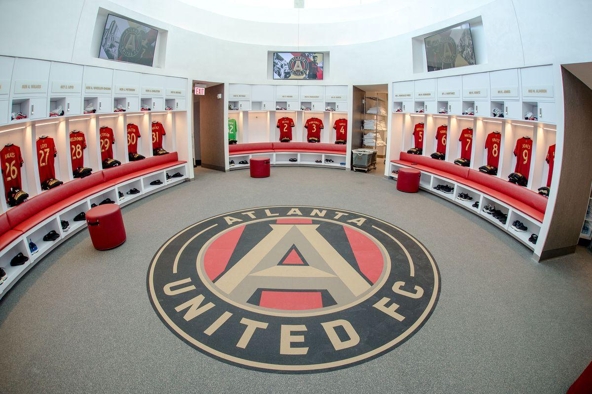 Inside the MLS's Atlanta United soccer team's locker room.