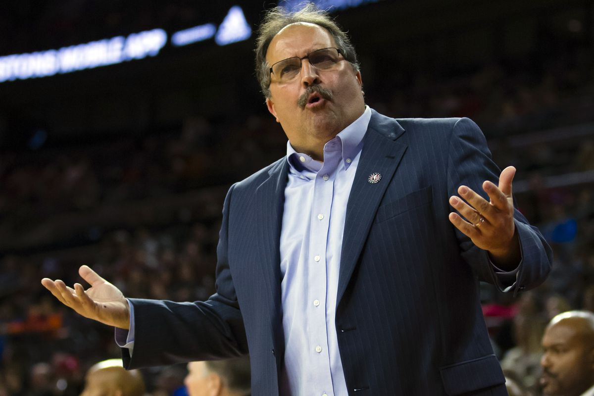 Pictured: Stan Van Gundy when asked what his plan is to fix the Pistons