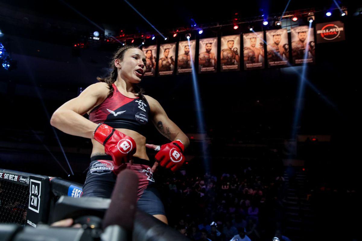 Brazilian judoka Juliana Velasquez sees Bellator belt 'equivalent to an  Olympic medal' - MMA Fighting