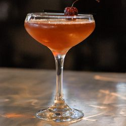 The Bacon Infused Manhattan at Strings Restaurant