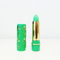 "Magic green lipstick, <a href=""http://www.shoptiques.com/products/magic-green-lipstick"">$6</a> at Babel Fair"