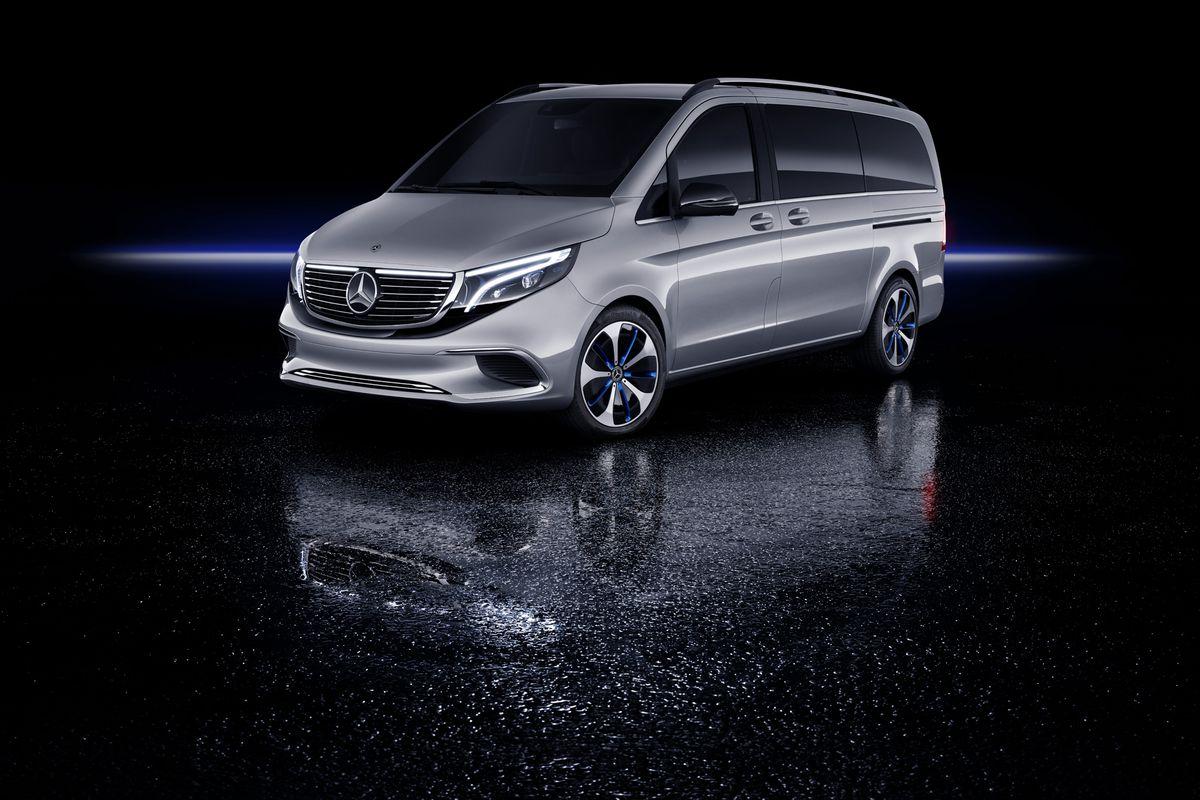 Mercedes Benz Minivan >> Mercedes Benz S Eqv Electric Van Has 200 Horsepower And 249