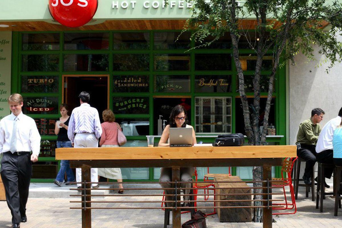 Jo's Coffee Shop in downtown