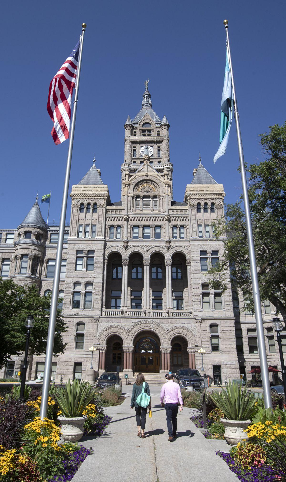 The Salt Lake City and County Building on Monday, Aug. 12, 2019.