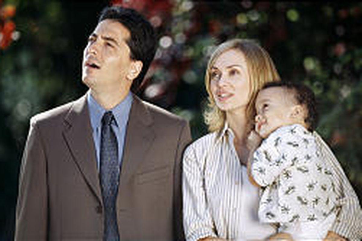 "Scott Baio stars as Stan Bobbins, Vanessa Angel stars as Jean Bobbins in ""Superbabies: Baby Geniuses 2."""