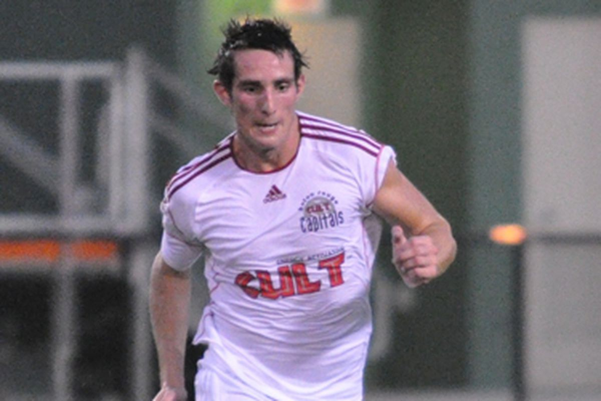 Joe Tait in action for the Baton Rouge Capitals. (Photo courtesy of USLsoccer.com)