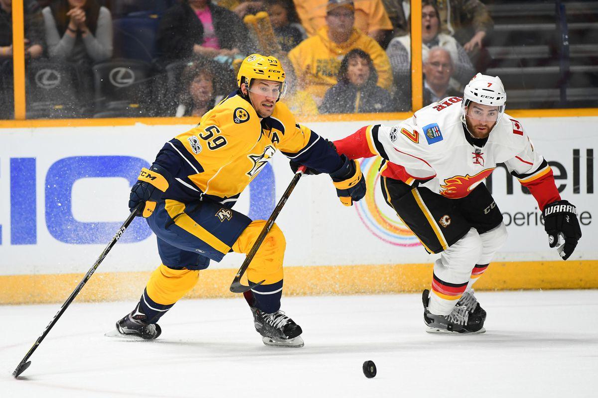 NHL: Calgary Flames at Nashville Predators