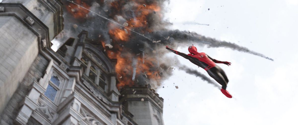 spider-man: far from home action scene