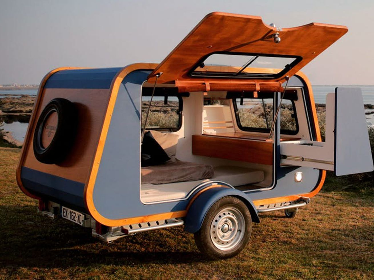 Yacht-like camper rethinks the teardrop trailer