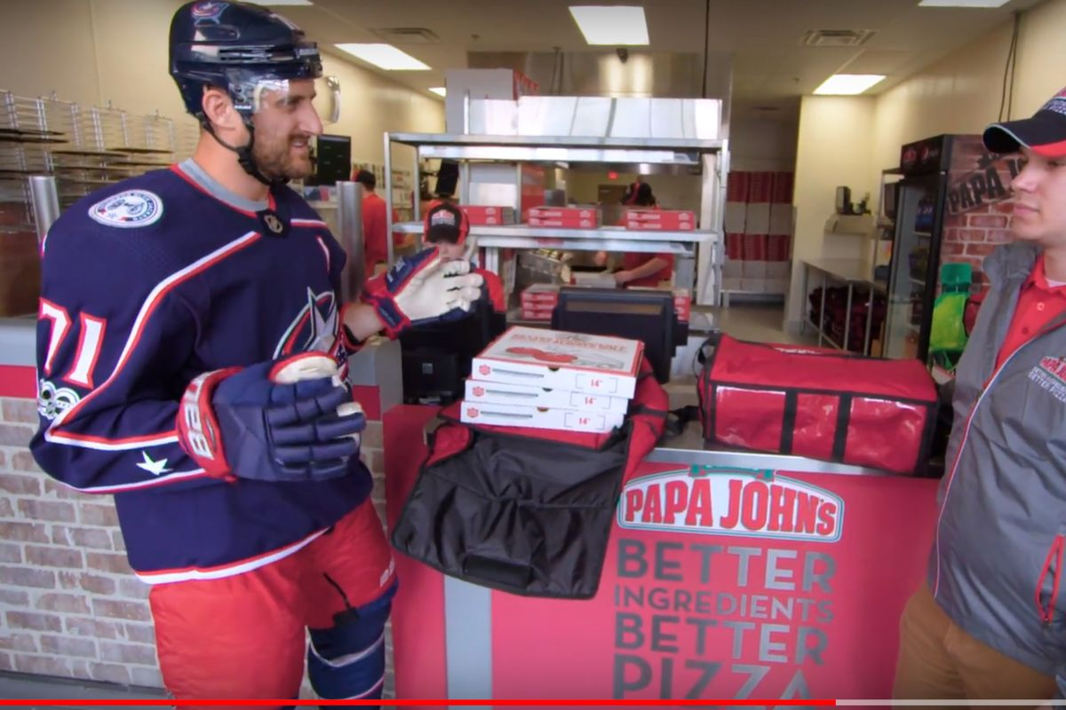 Image result for nick foligno papa johns