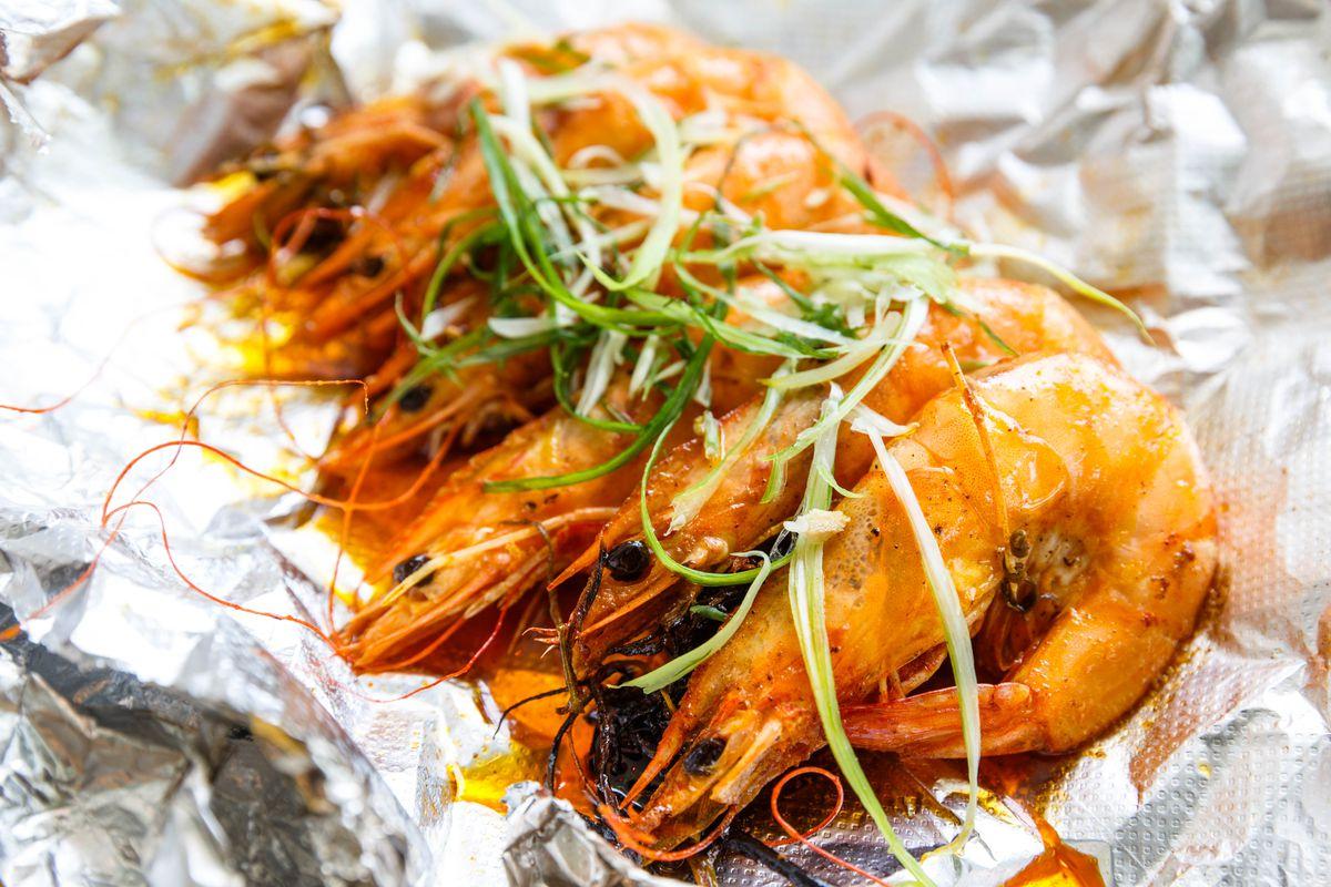 Glady's jerk shrimp
