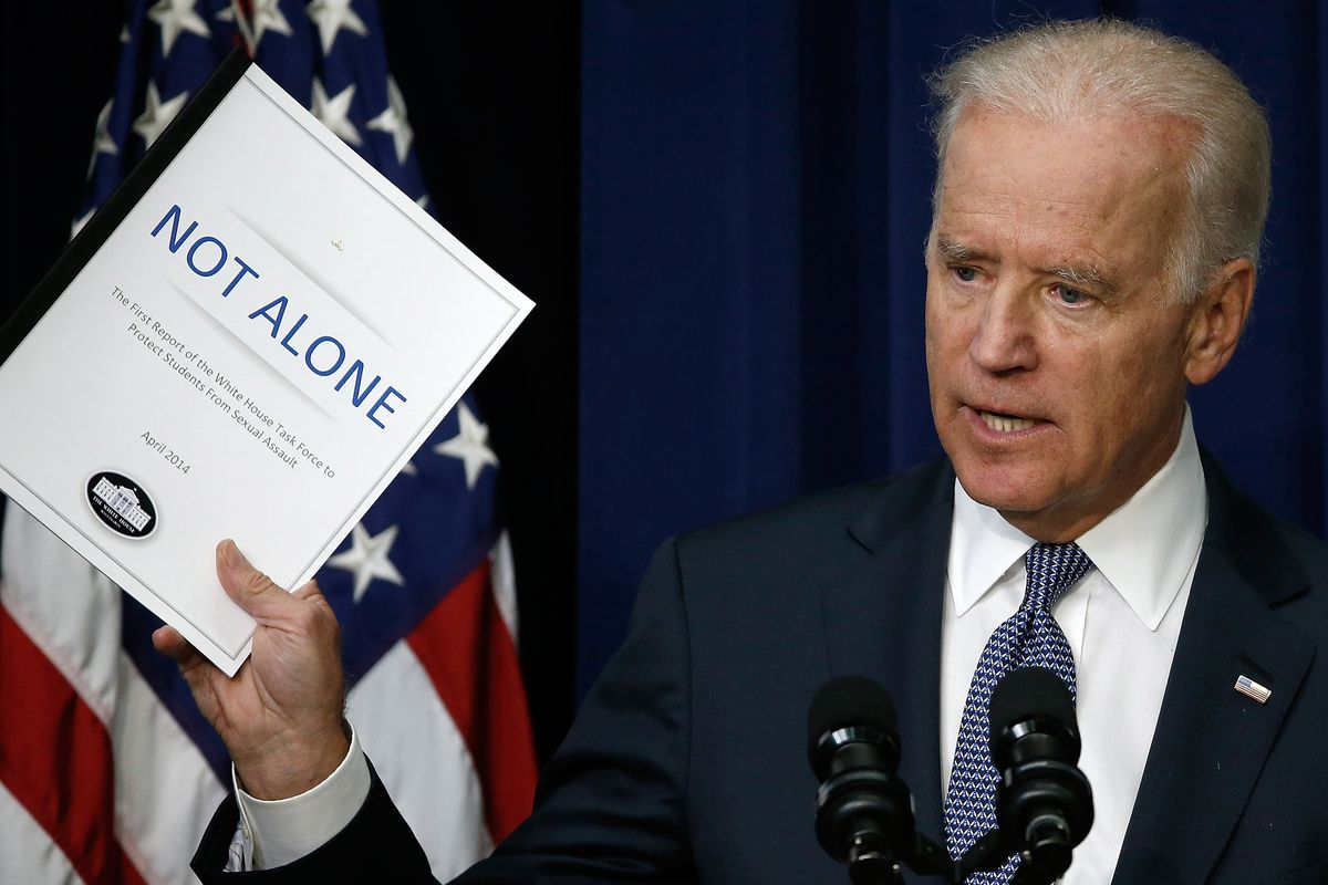 Vice President Joe Biden speaks during an event on protecting students from sexual assault