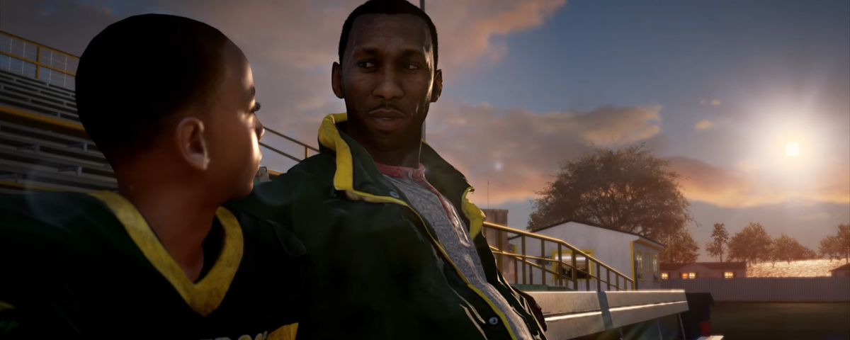 Madden NFL 18 - Devin and his dad, Cutter, in Longshot story mode